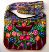 Huipil Bag - Large Market Bag Flowers 8 ***SOLD***