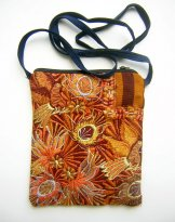 Pocket Bag 2 Zipper - Golden Birds ***sOLD***