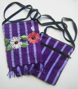 Pocket Bag 2 Zipper - Ribbon Flower