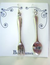 Charm Earrings - Fork and Spoon