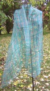 Silk Scarf - Gossamer - Turquoise