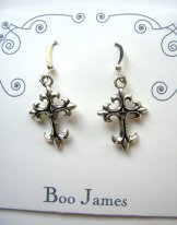 Charm Earrings - Cross