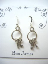 Charm Earrings - Keys