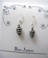Charm Earrings - Pine Cone