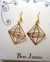Charm Earrings - 3D Gold