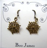 Charm Earrings - Snowflake Bronze