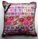 Mayan Huipil Pillow - Flowers & Birds ***SOLD***