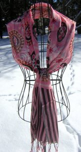 Scarf - Boho Stripe - Pink