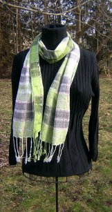 Skinny Scarf - Summer Plaid - Lichen