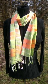 Skinny Scarf - Summer Plaid - Sherbert