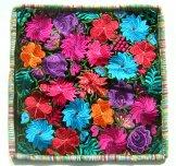 Embroidered Black Velvet Pillow - Flowers 4 ***SOLD***