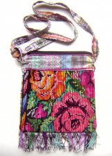Huipil Bag - Small Square Chichicastenango Roses 6