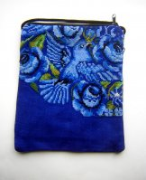 Pocket Bag 2 Zipper - Blue Bird