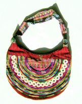 Huipil Crescent Bag -  Joyabaj Red 3 ***SOLD***