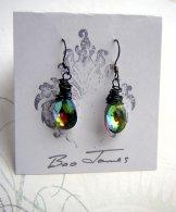 Crystal Drop Earring - Dark Rainbow