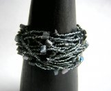 Wrist Wrap - Steel with Cat's Eye Stone