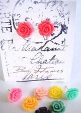 Rose Stud Earrings - Assorted
