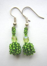 Droplet Earrings - Spring Green