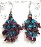 Stone Cluster Earrings - Iris