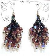 Crystal Cluster Earrings - Iris Metallic