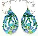 Triple Loop Earrings - Turquoise
