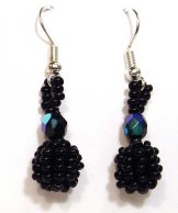 Droplet Earrings - Black