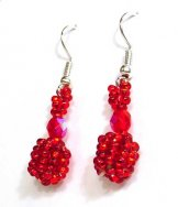 Droplet Earrings - Red Shine
