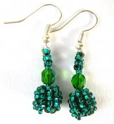 Droplet Earrings - Caribbean Green