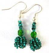 Droplet Earrings - Caribbean Green