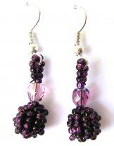 Droplet Earrings - Claret
