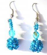 Droplet Earrings - Sky Tweed