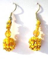 Droplet Earrings - Sunshine Tweed
