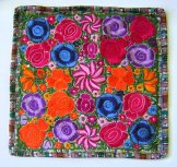 Embroidered Pillow Cover - Mayan Flowers 12 ***SOLD***