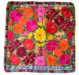 Embroidered Pillow Cover - Mayan Flowers 13 ***SOLD***