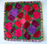 Embroidered Pillow Cover - Mayan Flowers 19 ***SOLD***