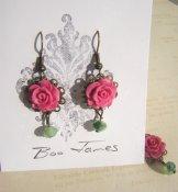 Vintage Rose Earrings - Rose