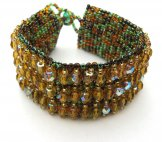 Crystal Cuff Bracelet - Gold