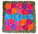 Embroidered Pillow Cover - Mayan Flowers 14 **SOLD***