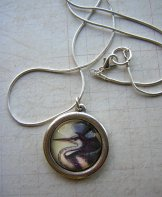 Great Blue Heron Necklace in Silver