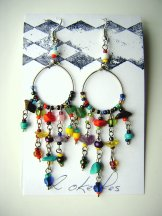 Beaded Hoop Earrings - Carnival