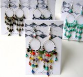 Beaded Hoop Earrings - Assorted