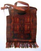 Huipil Bag - Large Square Chichicastenango Rust Diamonds 1 ***SOLD***