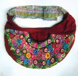 Huipil Crescent Bag - Patzun Flowers 6 ***SOLD***