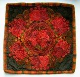 Huipil Cushion - Roses on Velvet ***SOLD***