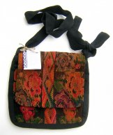 Huipil Tapestry Bag - Chichicastenango Roses & Diamonds ***SOLD***
