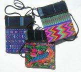 Assorted Indigo Two Zipper Pocket Bags