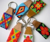 Beaded leather Key Rings - Assorted