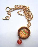 Tangerine Marbled Necklace - Gold