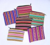 Mayan Stripe Hand Woven Change Purses Assorted