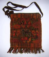 Huipil Bag - Med Square Chichicastenango Rust Pattern ***SOLD***